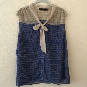 The Limited Classic Sheer Button Down Necktie Top
